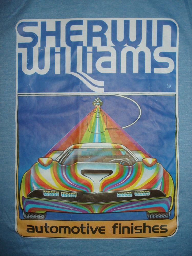 Sherwin Williams Auto Paint >> Vintage 70s Sherwin Williams Automotive Paint T Shirt