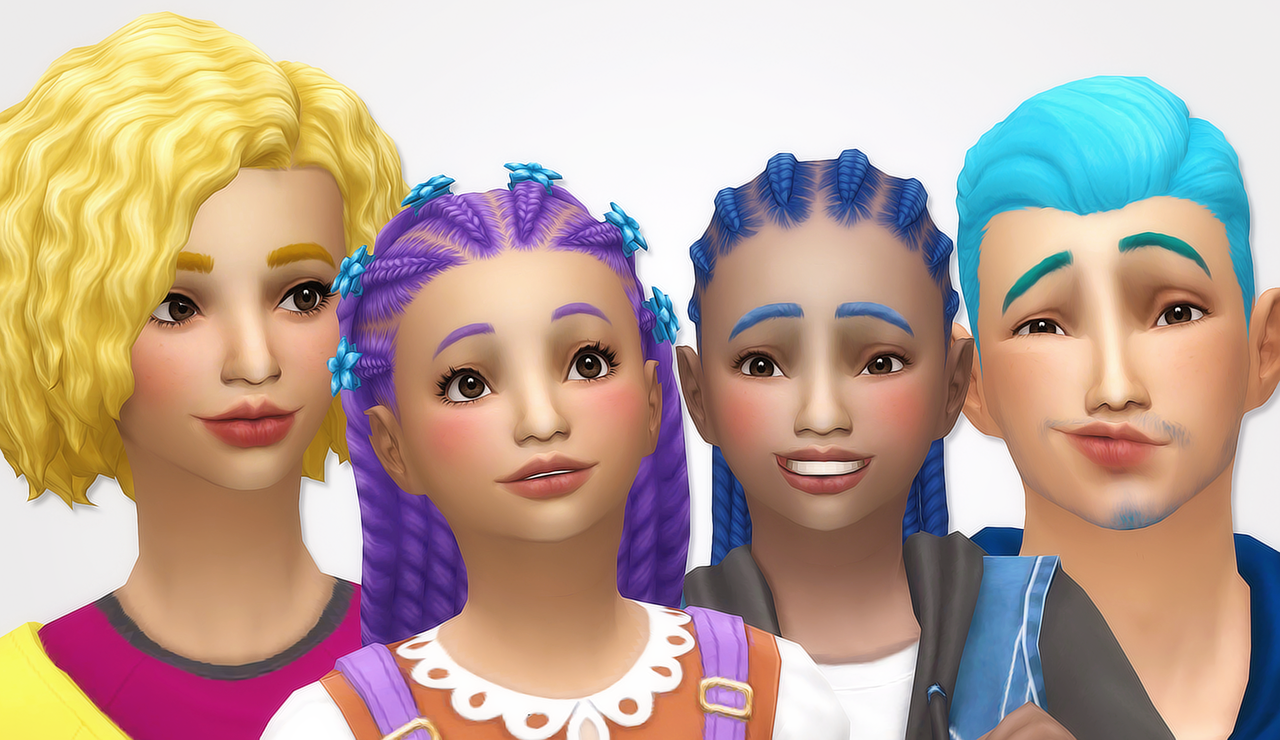 Noodles Parenthood Hair Recolors Includes Recolors Of All Sims 4