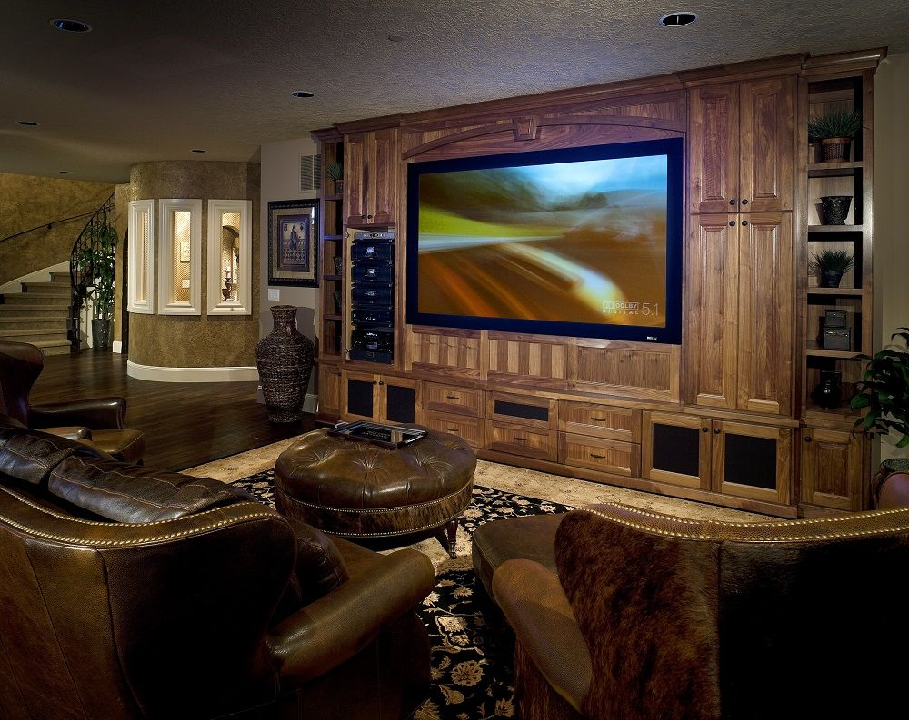 Magnificent A Contemporary Man Cave With Dark Leather Furniture Stained Uwap Interior Chair Design Uwaporg