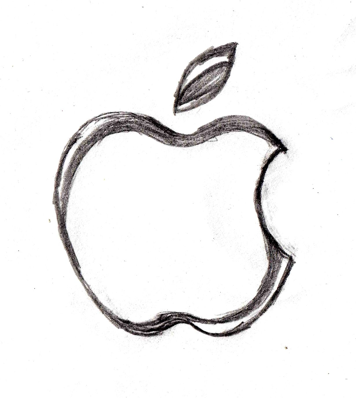 Apple Company Logo sketch http://drawingmanuals.com/manual