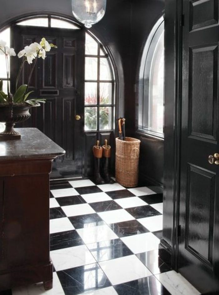 pin by anna rogowska on ganek carrelage noir carrelage. Black Bedroom Furniture Sets. Home Design Ideas