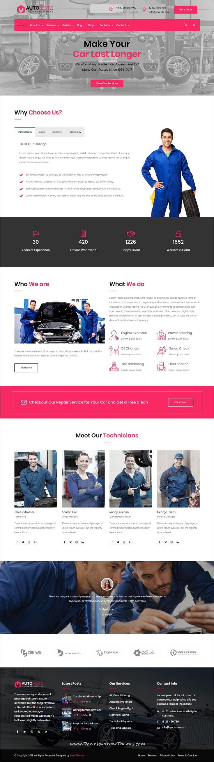 Automotz Auto Repair Services Wordpress Theme Car Repair Service Auto Repair Auto Repair Shop