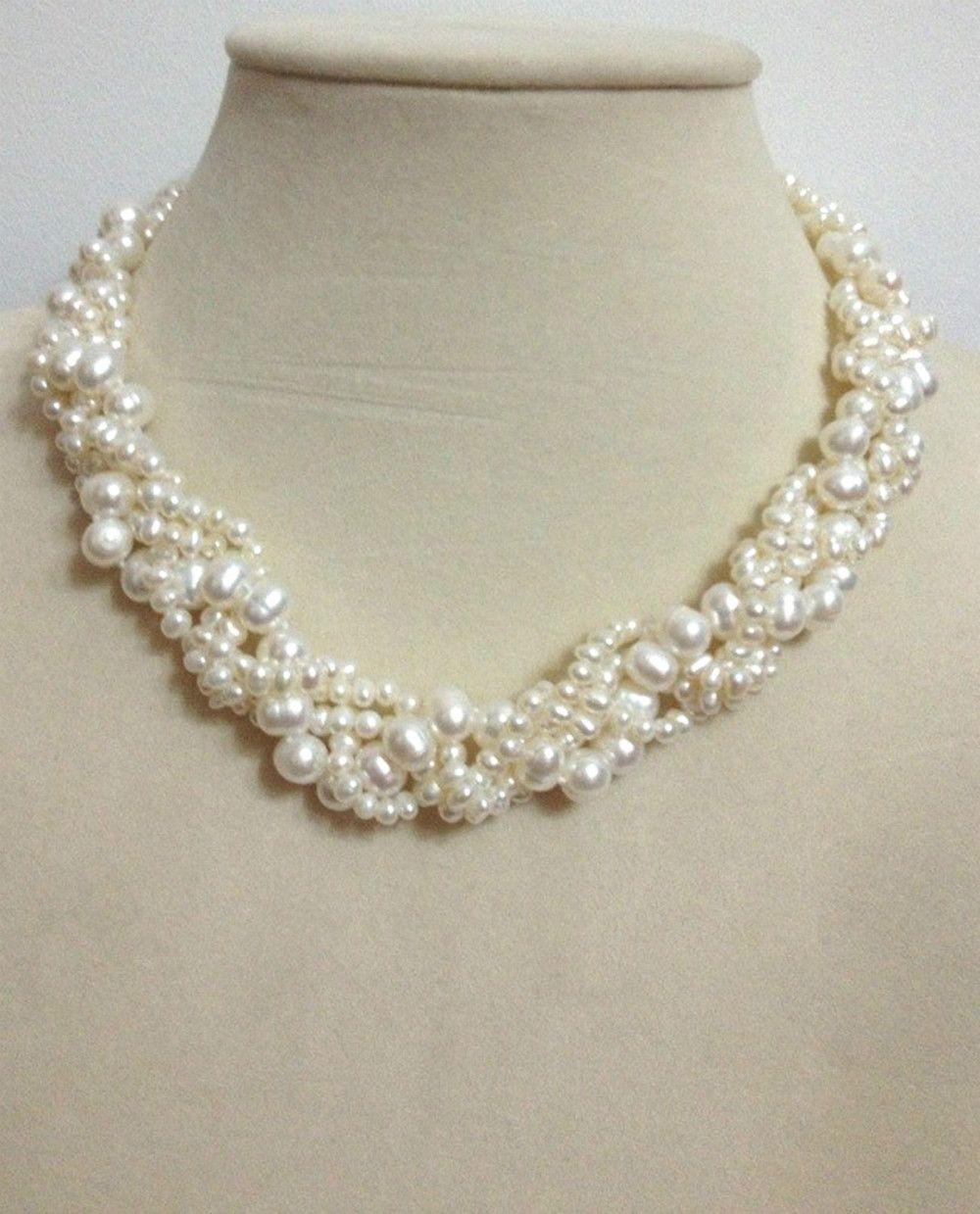 Pearl Necklace Wedding CLEARANCE Pearl Pendant Tiered Necklace SALE Pearl Neclace Pearl Necklace Pearl Jewlery Pearl Jewelry