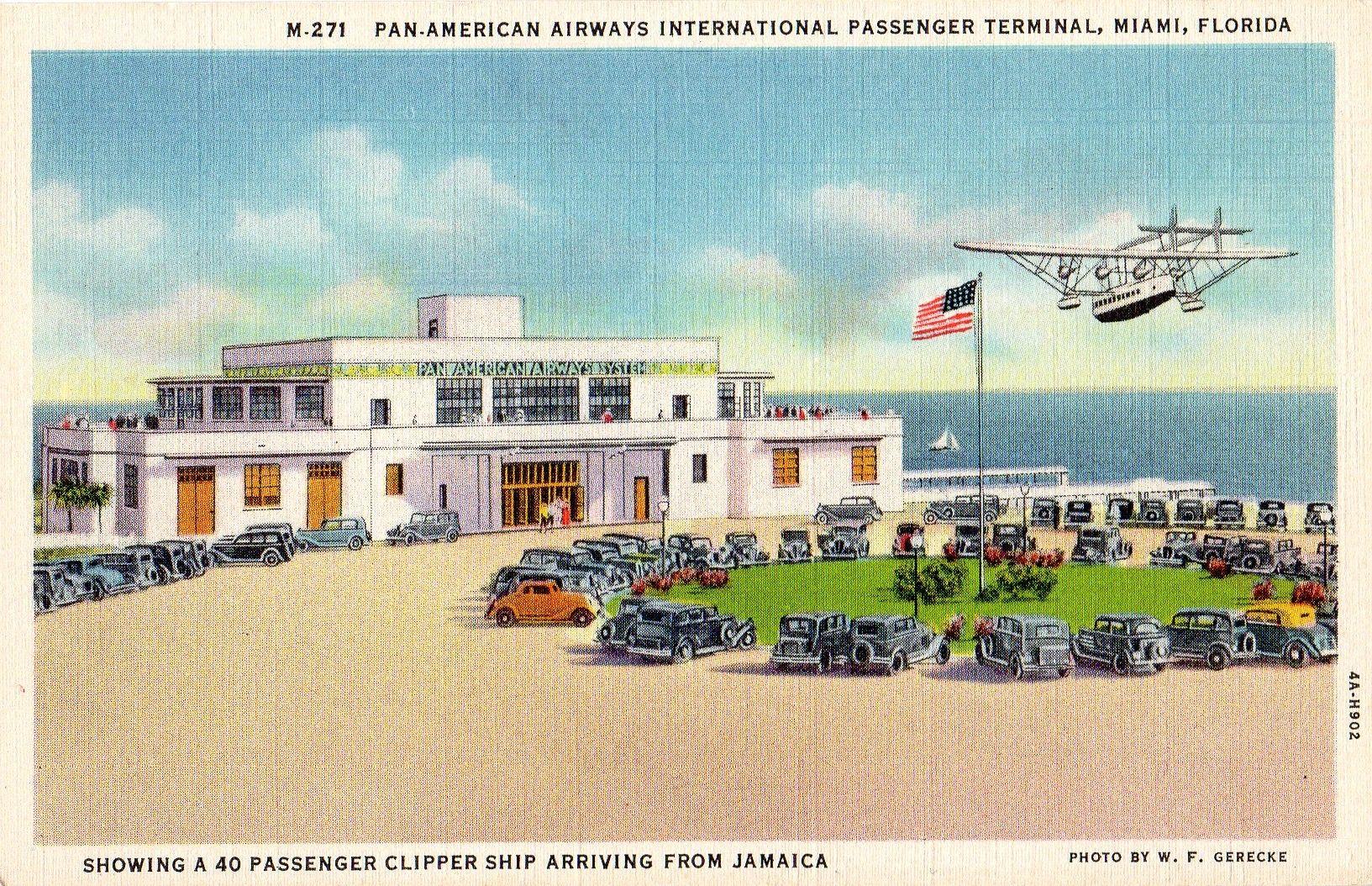 1940's postcard. Hagins collection. Pan american