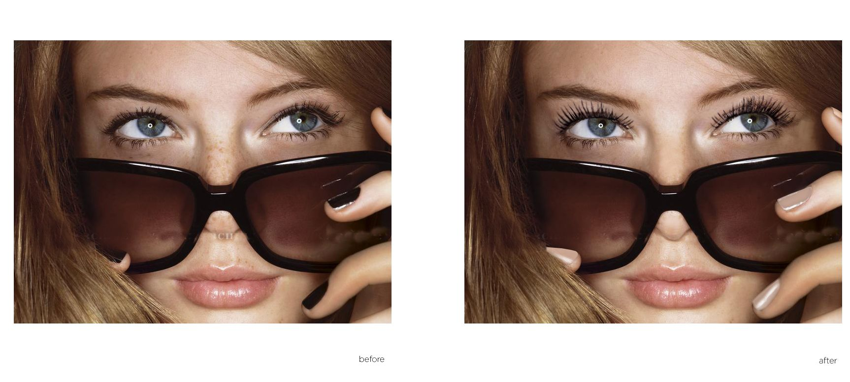 Client: AVON Job: Retouching for comps and mood boards