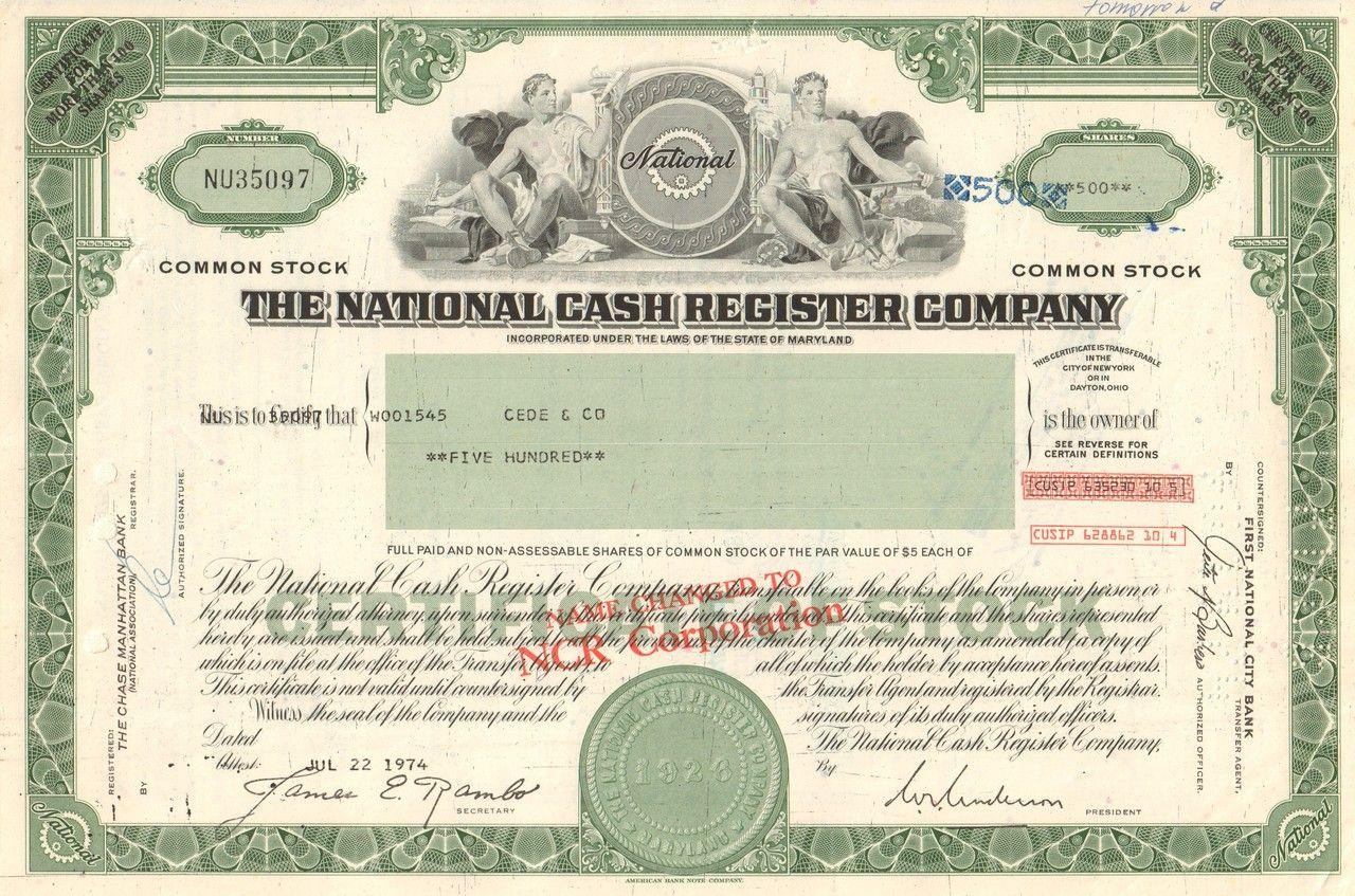 National Cash Register Company 1970 S Ncr