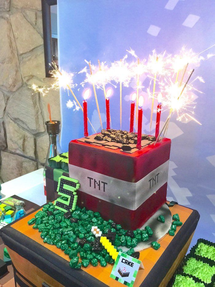 Minecraft Candles For Cake