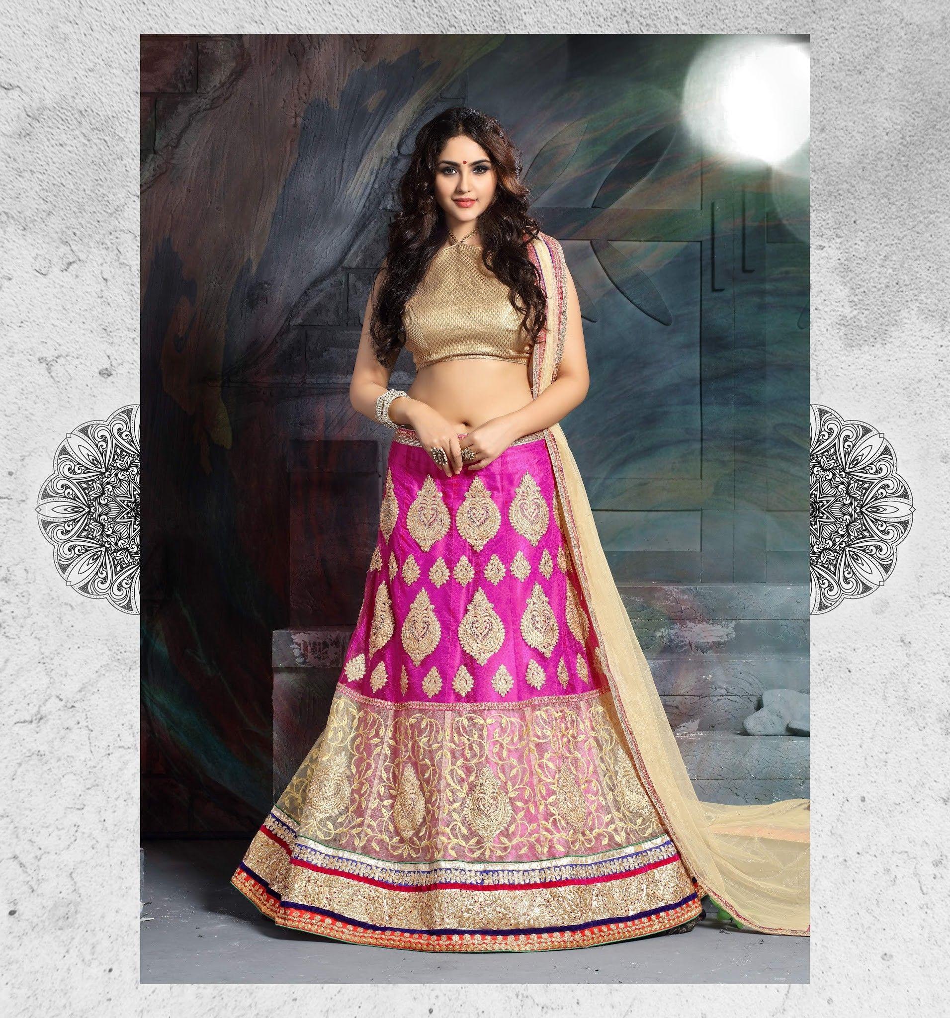 5710786372 AASVAA Beautiful Multi Color Lehenga Choli With Cream Duppta At Aimdeals.com