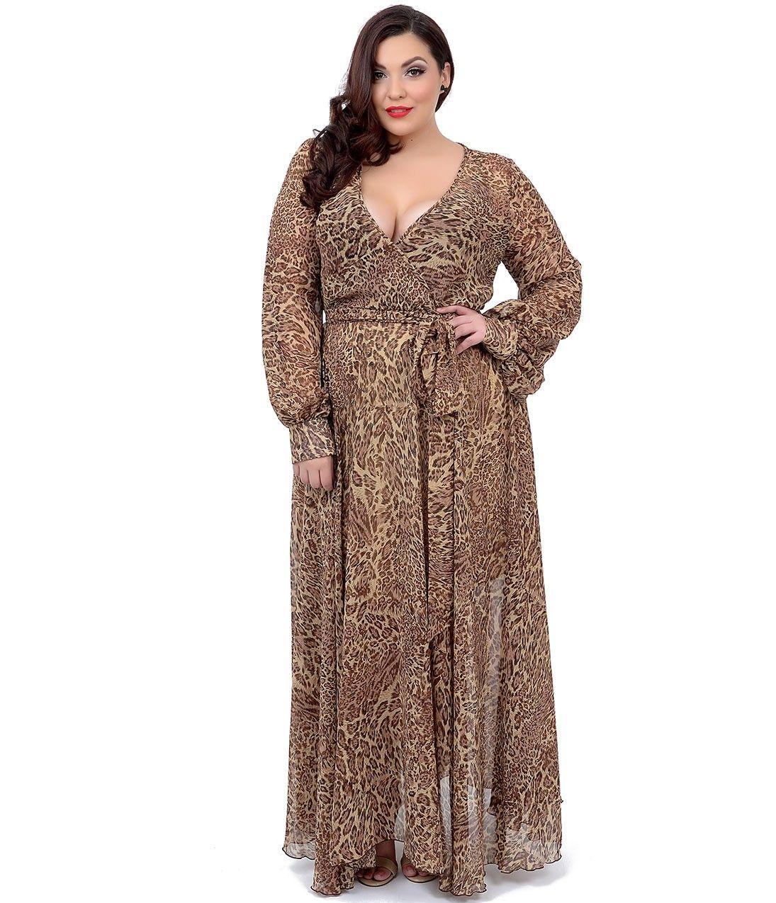 cheetah print plus size dresses images - dresses design ideas