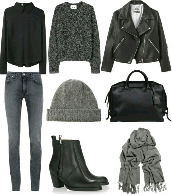 Gris/Negro ropa cool Pinterest Gris, Negro y Invierno