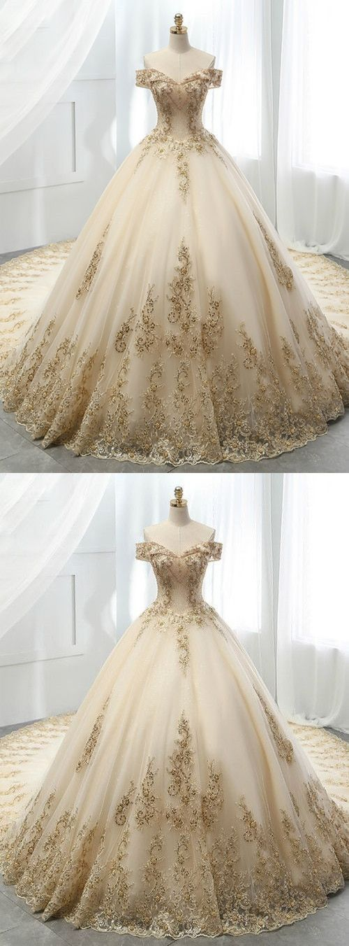 Wedding Dresses New White Ivory Beadding Wedding Dress Bridal Gown In 2020 Quinceanera Dresses Gold Ball Gown Wedding Dress Wedding Dress Champagne