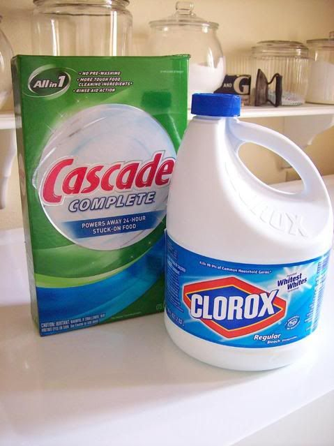 Stain Remover 1 Cup Cascade 1cup Bleach In Laundry Tub Of Hot Water