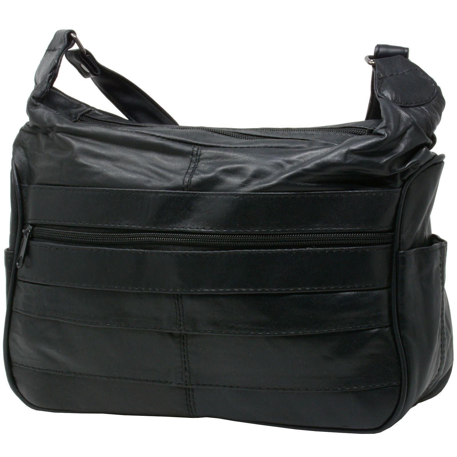 18 98 Usd Women S Leather Handbag Mid Size Shoulder Bag Purse Tote W Multi Pockets New Womens Cute Tumblr