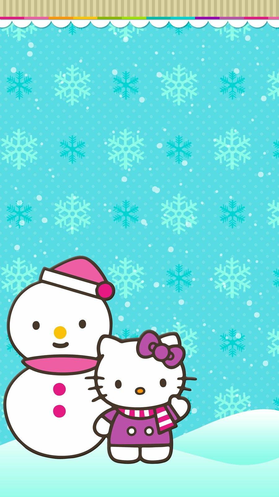Hello Kitty Winter Hello Kitty Christmas Hello Kitty Backgrounds Hello Kitty Art