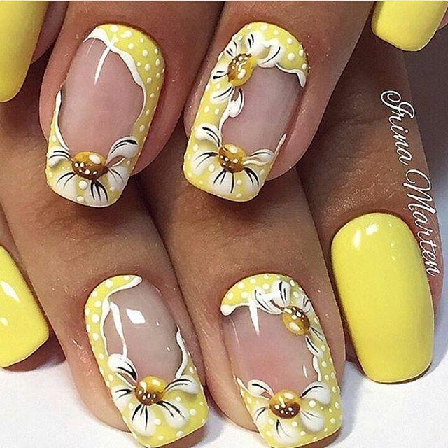 Lovely yellow | Nail Whore | Pinterest | Manicure, Nail nail and ...