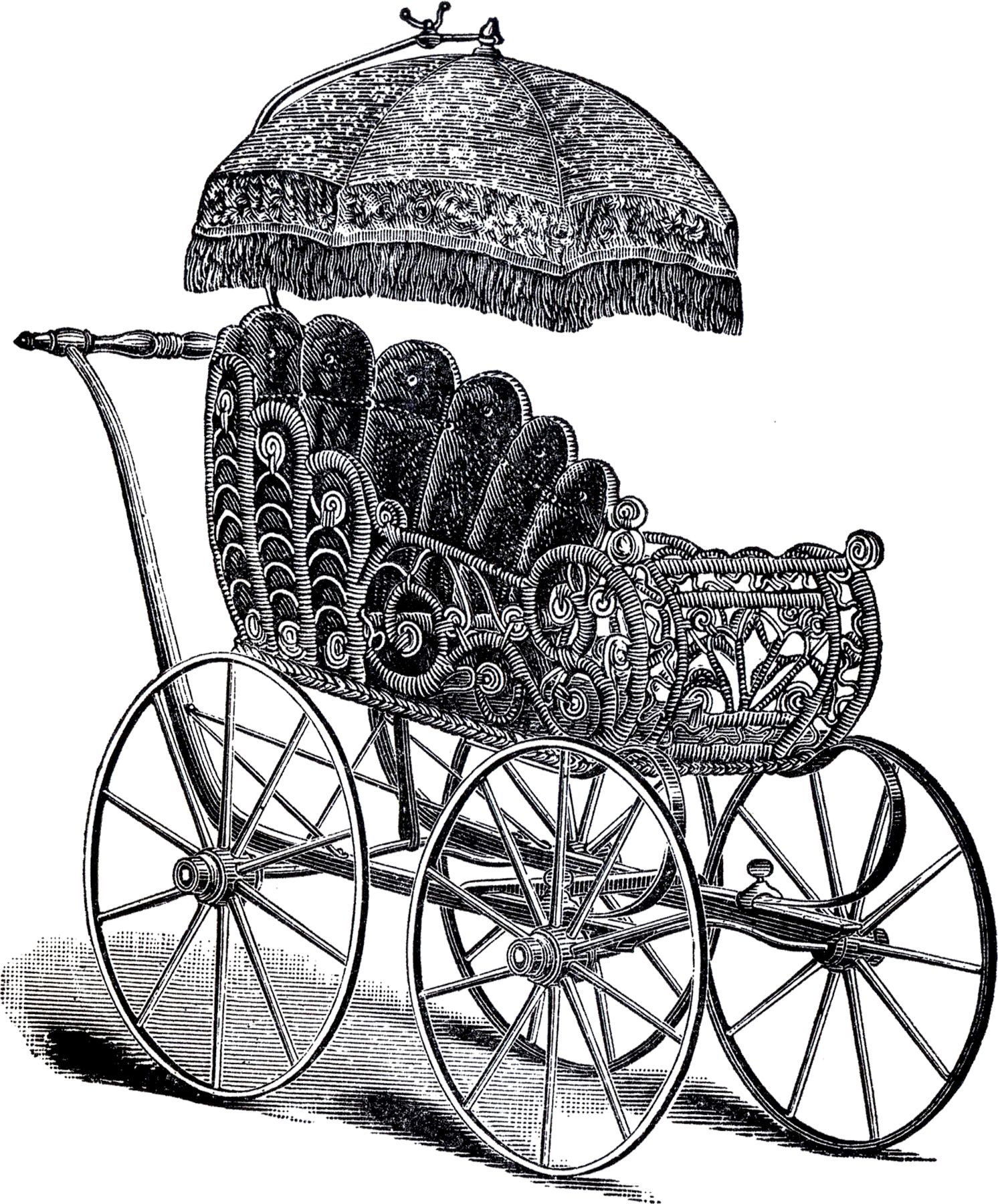 Vintage Wicker Baby Carriage Image The Graphics Fairy Baby Carriage Clip Art Vintage Vintage Wicker