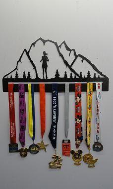 Running Medal Holder Mountain Runner by IronSportWorks on Etsy