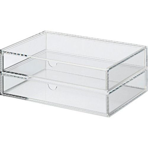 New Muji Acrylic Case 2 Multipurpose Drawer Organizer Box Large Japan 4945247380934 Ebay Muji Drawers Acrylic Storage Storage