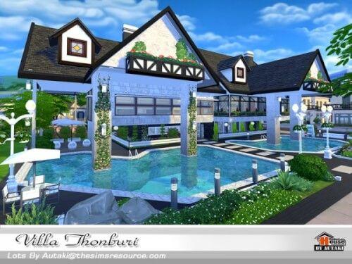 Villa Thonburi NoCC By Autaki For The Sims 4