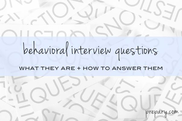 behavioral interview questions Great tips Pinterest Common