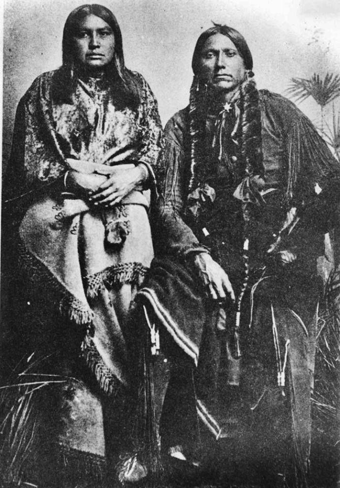 To-Pay and her husband, Quanah Parker - Comanche - circa 1890