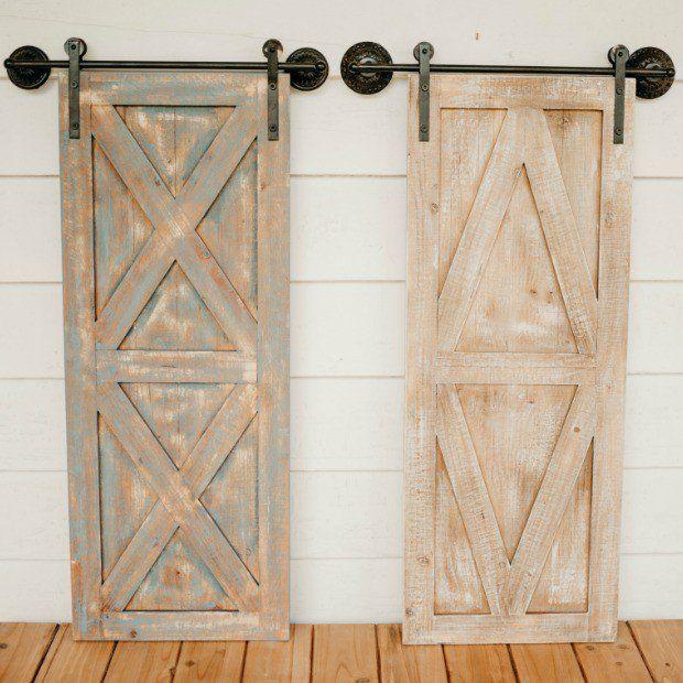 Rustic Barn Door Wall Decor Set Of 2 Rustic Barn Door Old Door Decor Rustic Farmhouse Decor