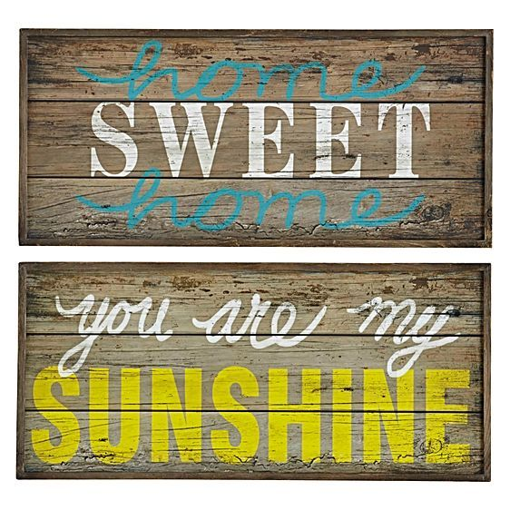 Let a little sunshine into your life and your look with the colourful phrasing and natural timber tones of the Sweet Sunshine Wall Decor, 66.5cm (Set of 2) from Amalfi.