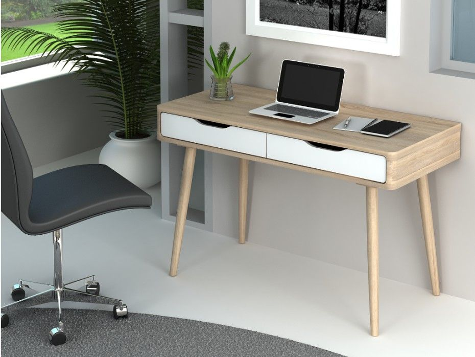Bureau Kloe N 6 Bureau Tiroir Blanc