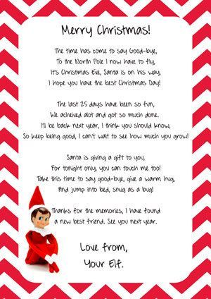 Elf On The Shelf Goodbye Letter Instant By Candeecreative On Etsy