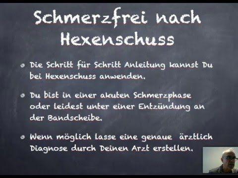 Selbstbehandlung nach Hexenschuss - Rezension von Ischias..