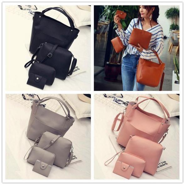 Molave Shoulder Bag new high quality Leather Four Set Handbag Four Pieces  Tote Crossbody Wallet shoulder bag women MAR8 01f1d4a25cb88