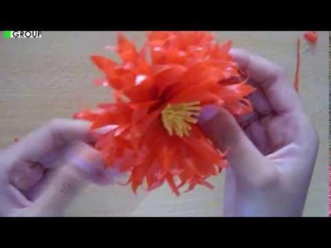 Cara Membuat Bunga Dari Sedotan Youtube