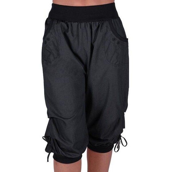 Chicago Ladies Capri Crop Shorts Harem Pants Womens 3/4 Cropped ...