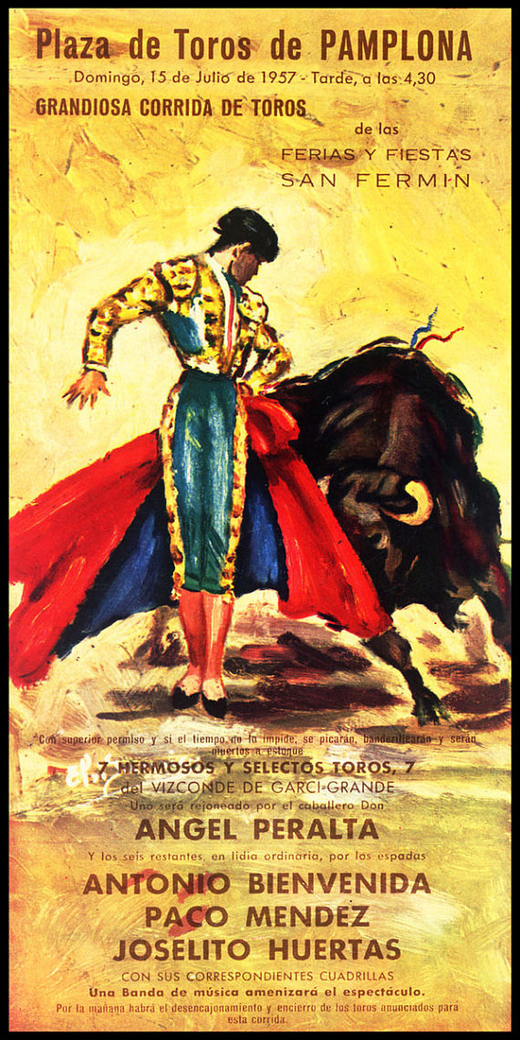 Bullfighting  Plaza De Toros Pamplona 3 Canvas Art by VinylzArt