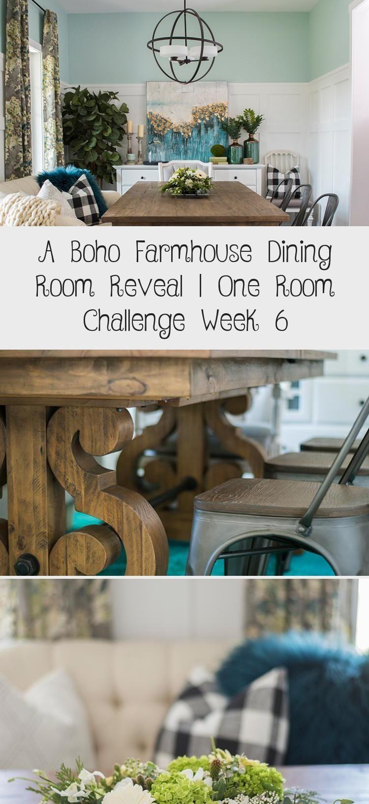 Ein Boho Bauernhaus Esszimmer enthüllen  One Room Challenge Woche 6  Pinokyobauernhaus