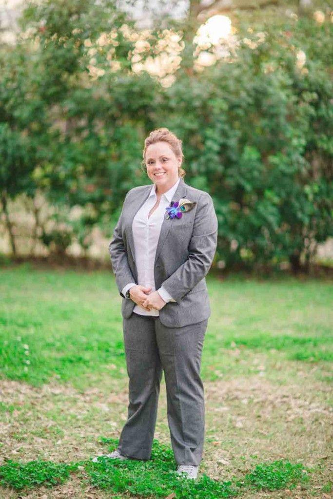 Lesbian wedding suit   Texas Traditional Villa Lesbian Wedding   Equally  Wed - LGBTQ Weddings