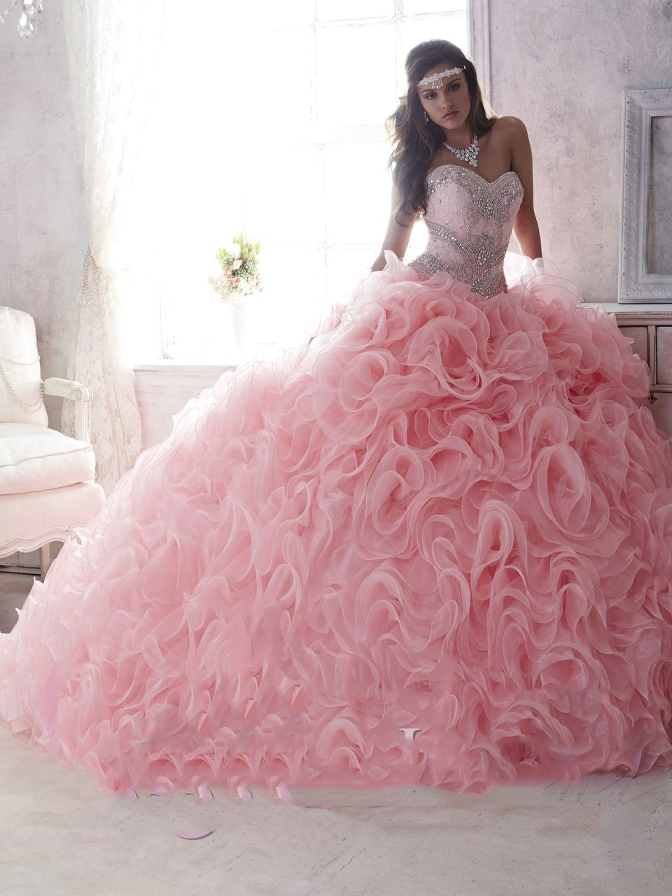Vestidos de 15 años color rosa | Pinterest | Color rosa palo ...