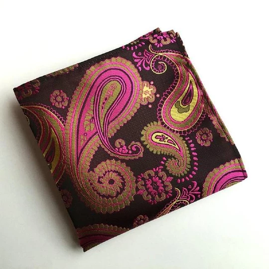 Vintage Men's Paisley Handkerchief Pocket Floral Pocket Square Business Chest Towel Hankymodlilj #pocketsquares