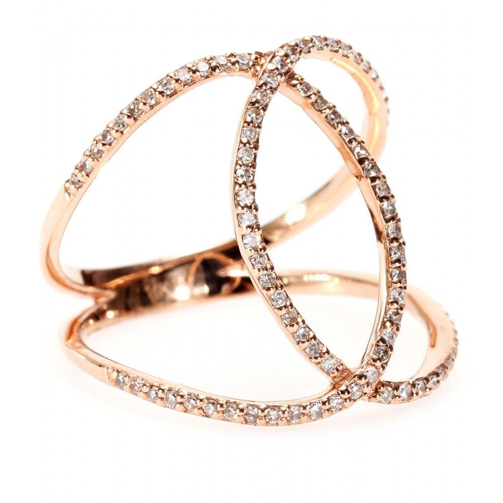 Jacquie Aiche Vintage Waif 14kt rose gold diamond ring Y6k7CVA5m