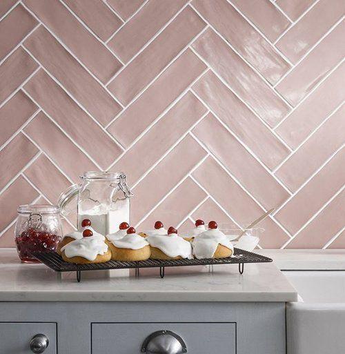 inside diane keaton s rustic home pink tiles herringbone tile kitchen interior on kitchen interior tiles id=97563