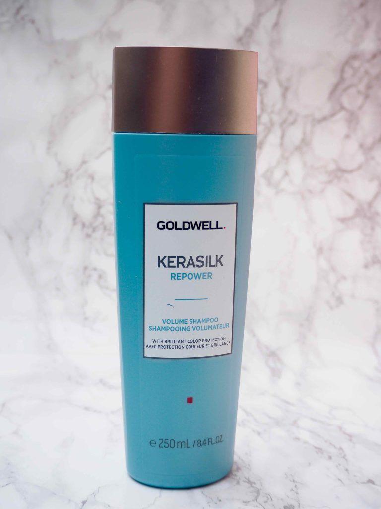 OSTOLAKOSSA: Goldwellin Kerasilk Power Volume Shampoo osoittautui loistavaksi tuotteeksi.