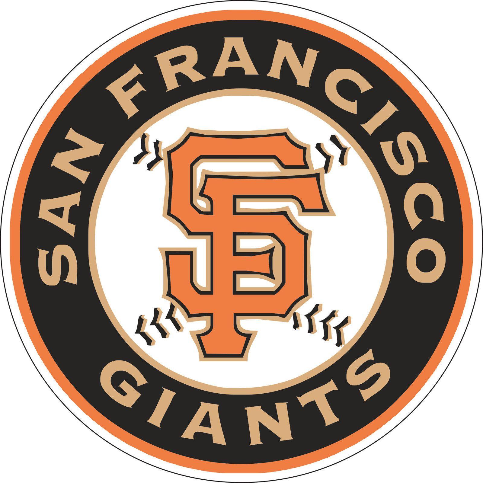 $9.99 - san francisco giants mlb baseball sticker wall decor large