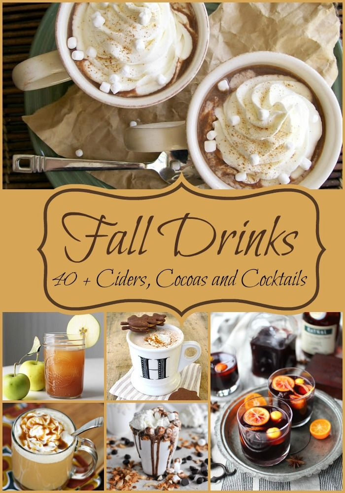 Over 40 Amazing Drink Recipes for Fall and Winter