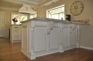 Kitchen Island Cottage Distressed French Country Hand Carved Corbels Black  | Hand Carved, Kitchens And Island Kitchen