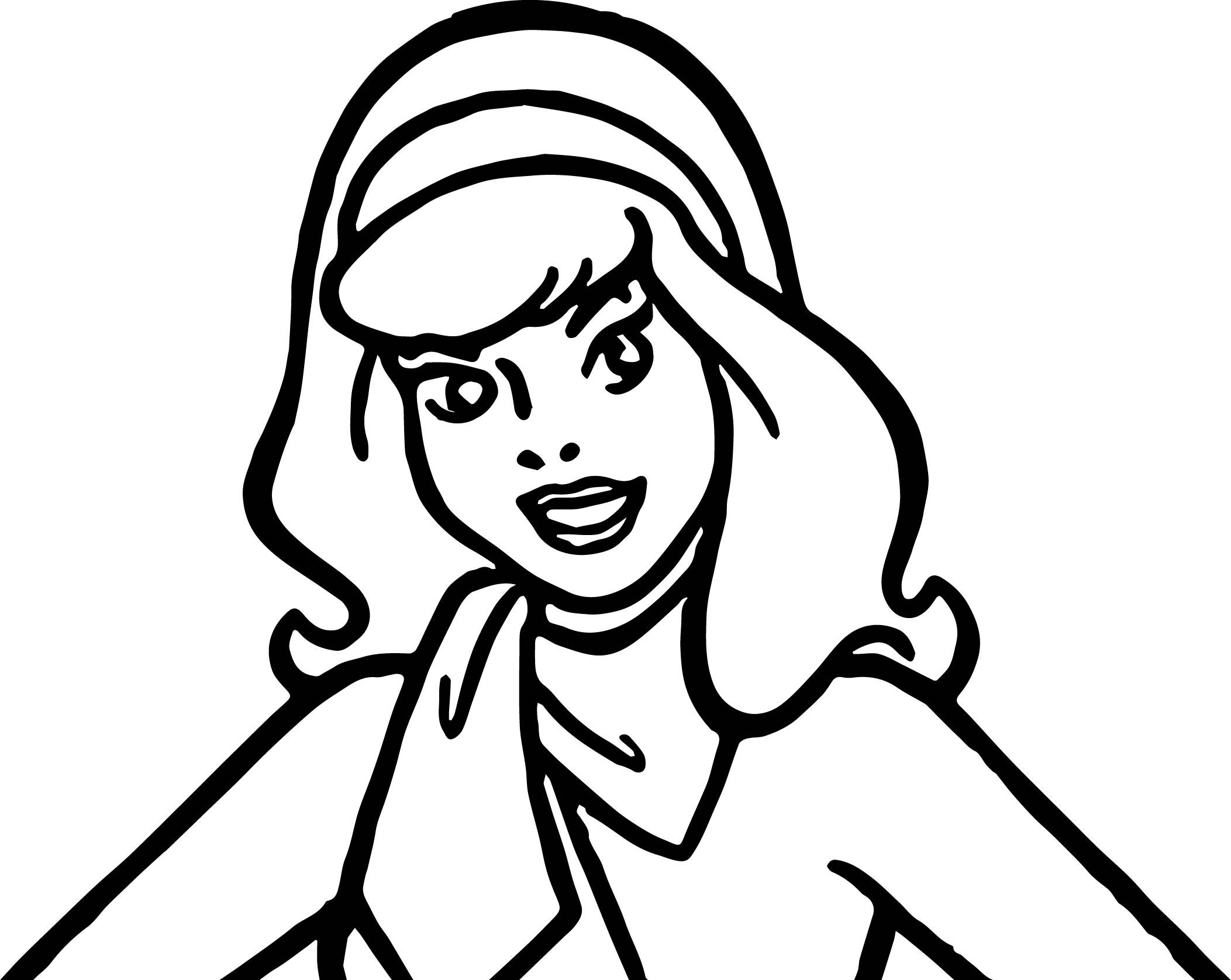 Awesome Daphne Scooby Doo Make Up Coloring Page Monster Truck