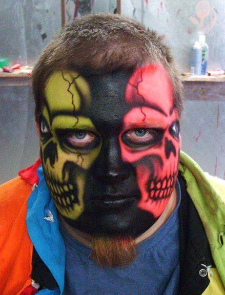 Cool Halloween face painting Zeug Pinterest Halloween face - halloween face paint ideas scary