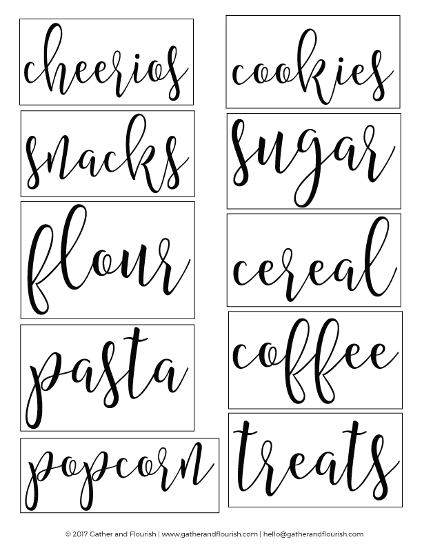 photograph about Printable Pantry Labels identify Free of charge Printable Pantry Labels fold shares Pantry labels