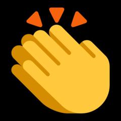 Clapping Hands Sign Emoji In 2020 Clapping Hands Emoji Hand Emoji Emoji