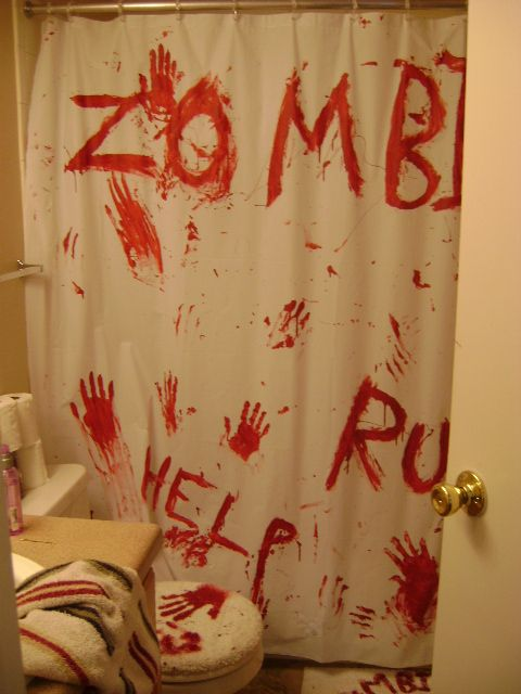 My zombie bathroom house room decor and room for Zombie bathroom decor
