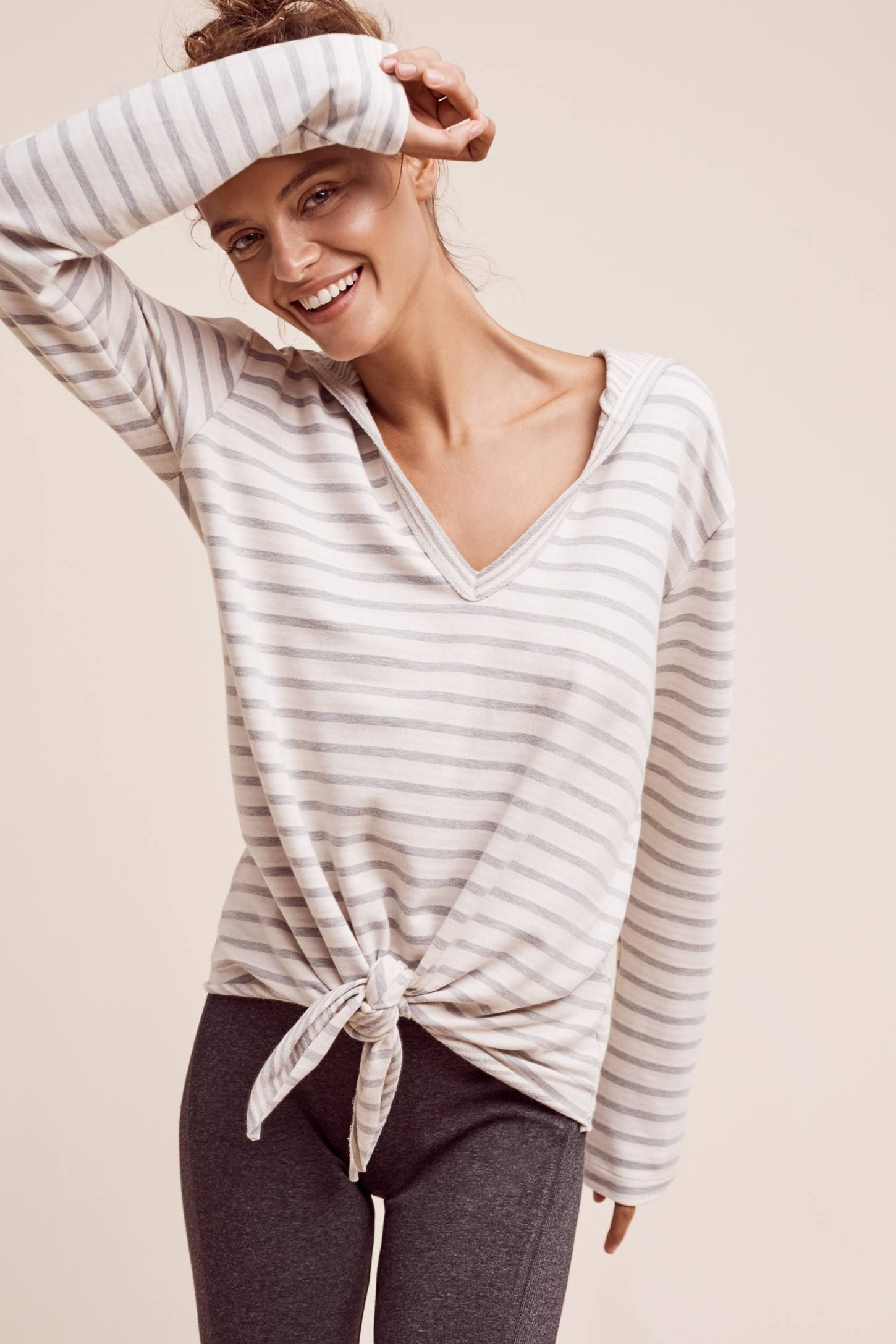Lakeside Tie-Front Hoodie from Anthropologie